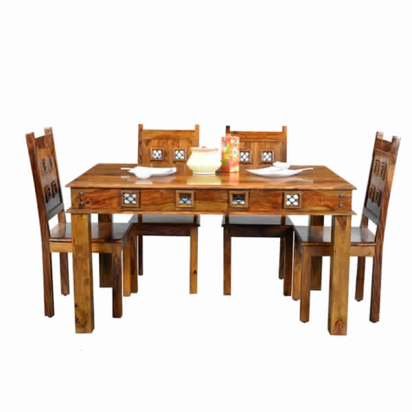Made Of High Quality Sheesham Wood This Dining Table Has An