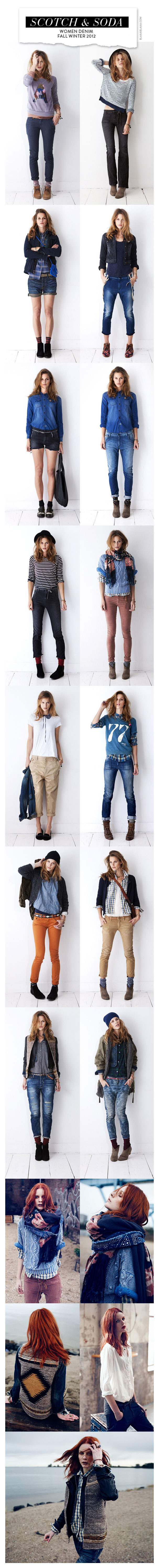 Scotch & Soda Women Denim Fall Winter 2012