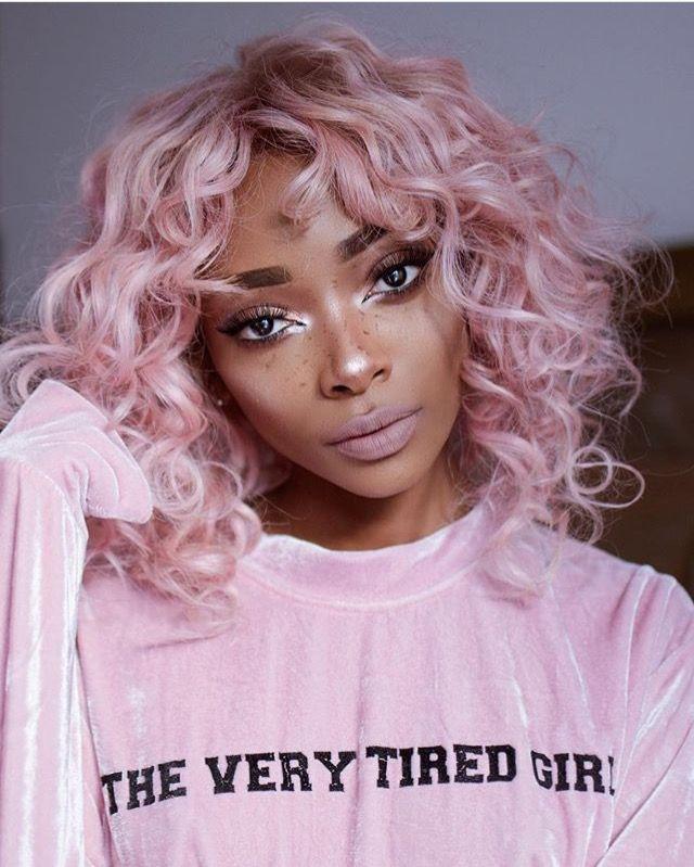 Pintereѕt Jeniimariee Curly Hair Styles Pastel Pink Hair Hair Color For Dark Skin