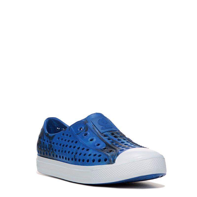 Skechers Kids' Guzman Slip On Pre/Grade School Shoes (Blue Camo)