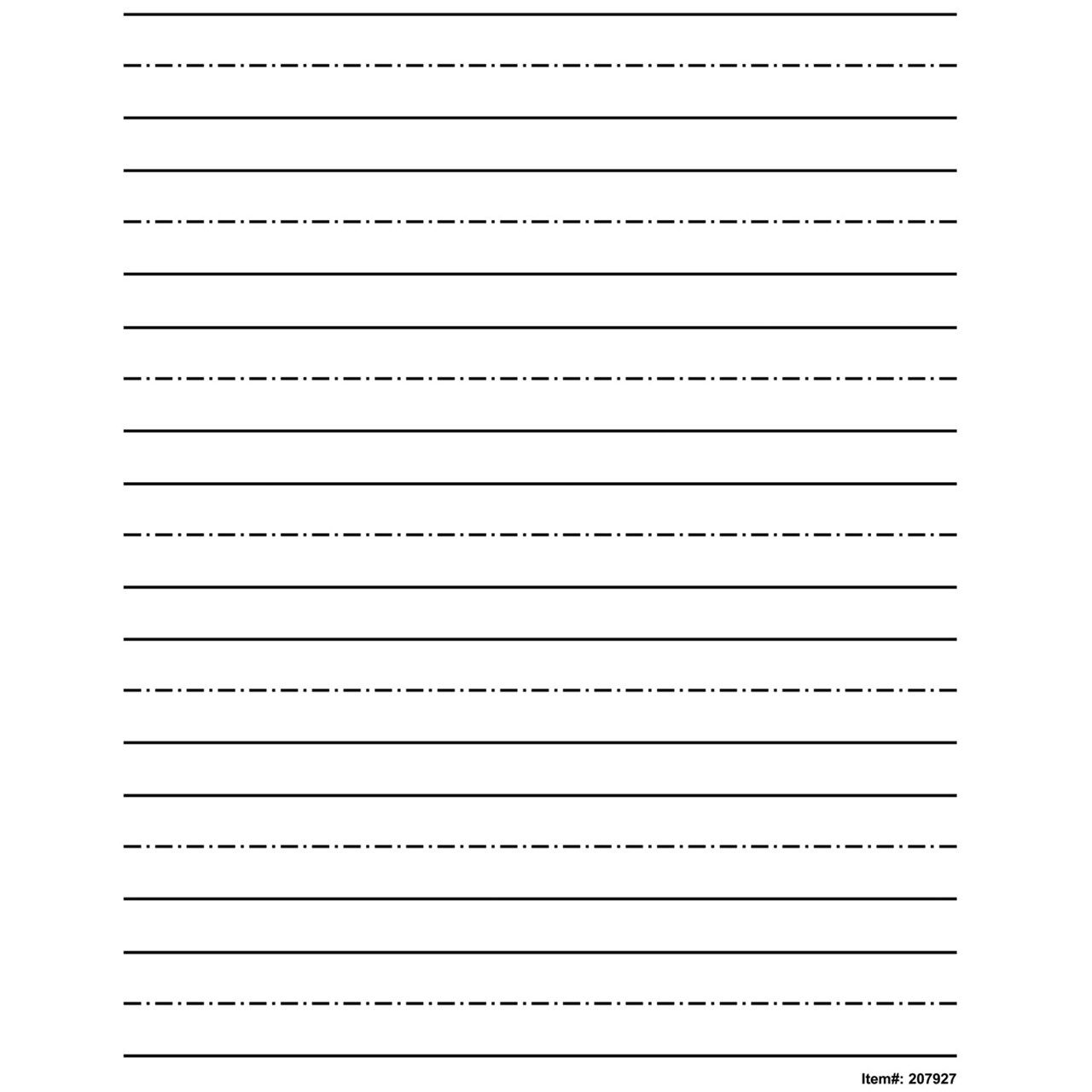 Low Vision Practice Writing Paper Bold Line