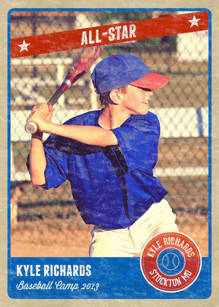 Baseball card size template awesome graphy card template