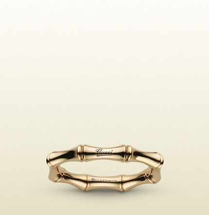 c8c6cff1b Gucci Bamboo Spring Ring In Yellow Gold on shopstyle.com | Arm Candy ...
