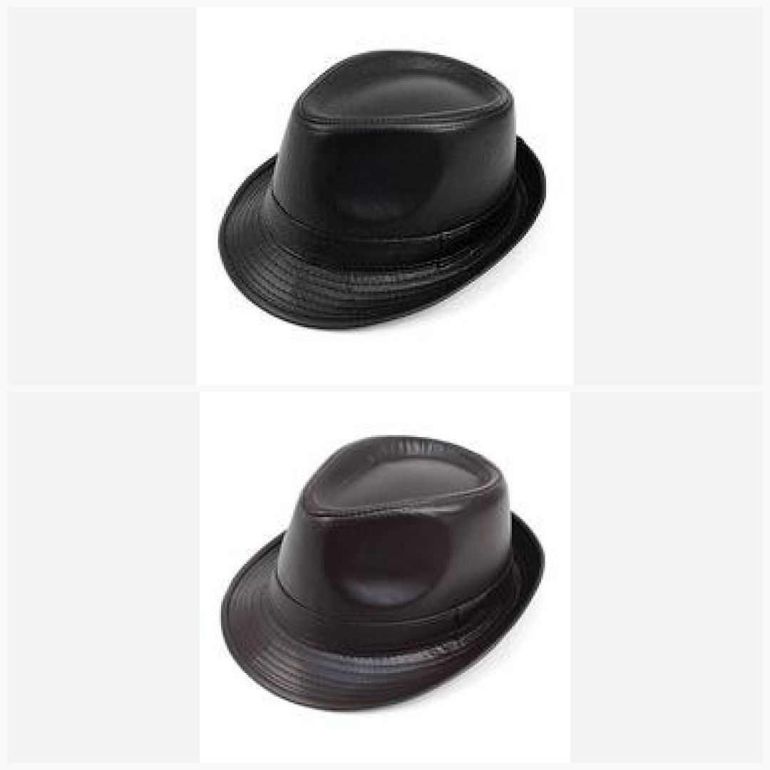 0bd6e6ff218cf Leather Trilby Fedora Hat On Sale Now! Great Shopping For Less GS4LESS The  Newest Online Store