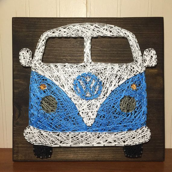 vw bus string art by stringsbysamantha bilder. Black Bedroom Furniture Sets. Home Design Ideas