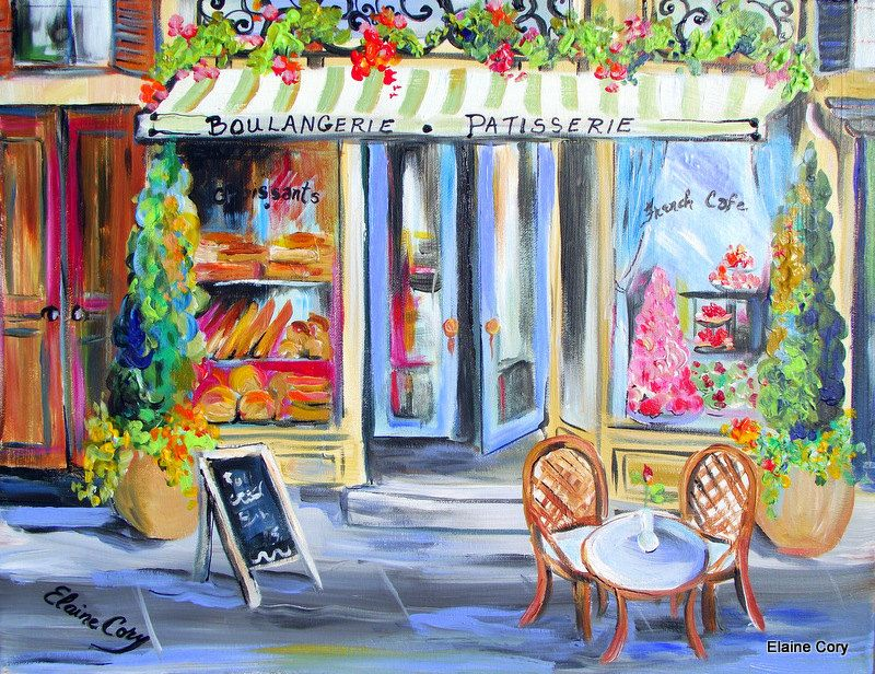 Paris Bakery Scenic Painting; This Is Pretty Much My Idea Of The Dining Room  For Kinleyu0027s Birthday!