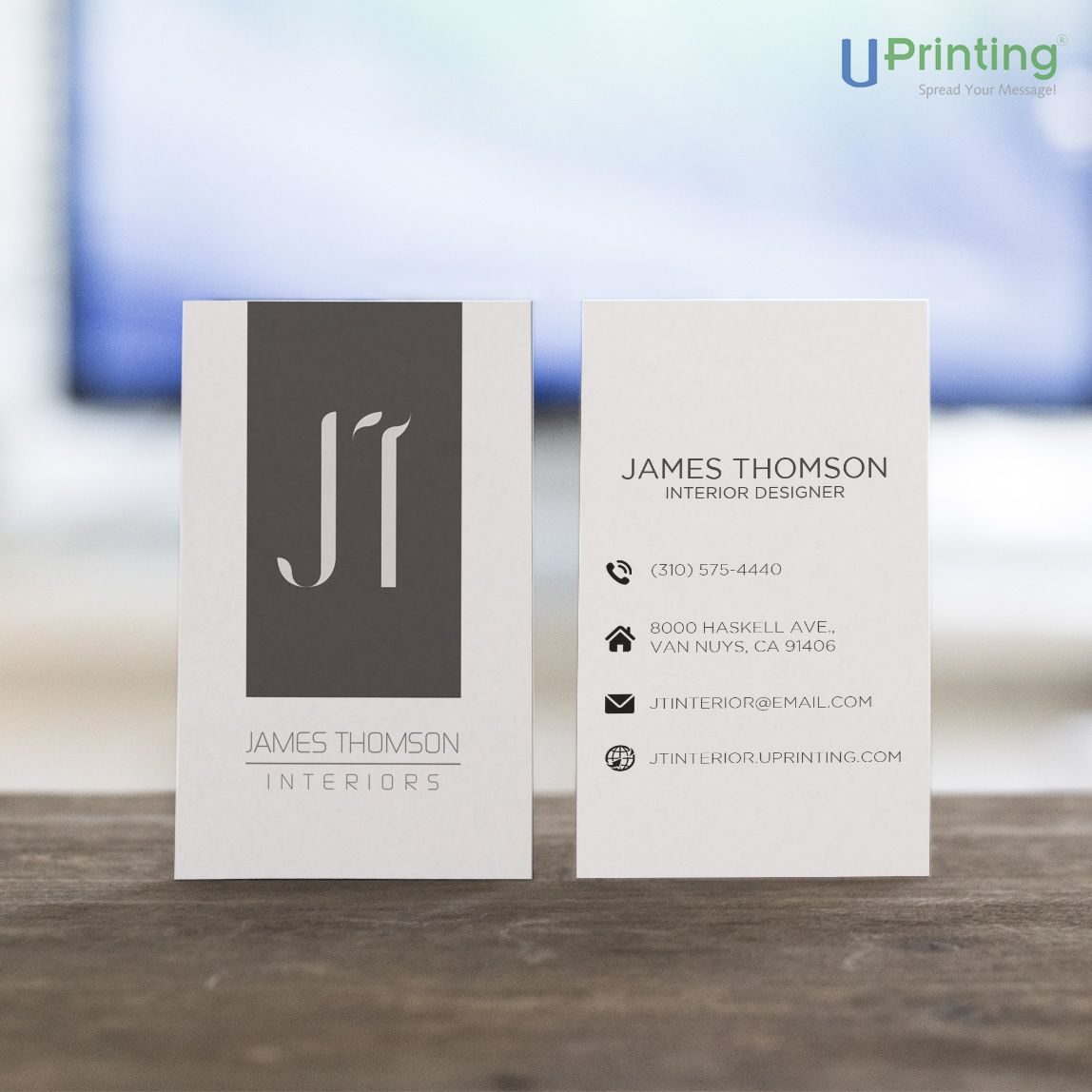 Go for a basic business card design for a neat, strong, and ...