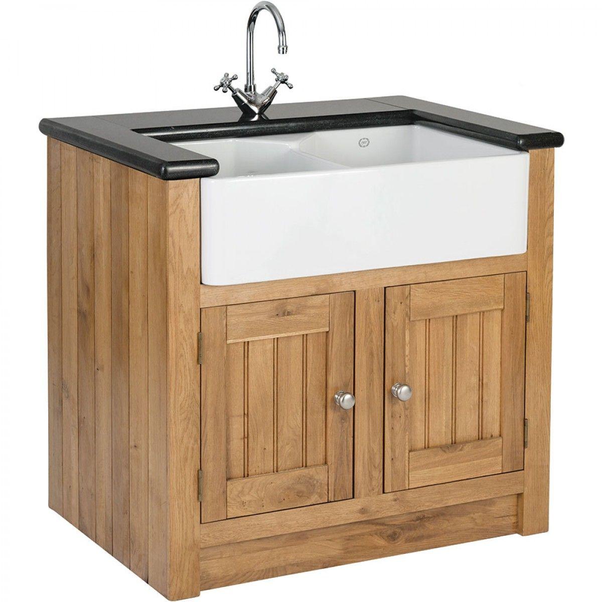 Orchard Oak 2 Door Sink Cabinet 980x665x900mm Sinks Basins Kitchens Sink Cabinet Freestanding Kitchen One Wall Kitchen