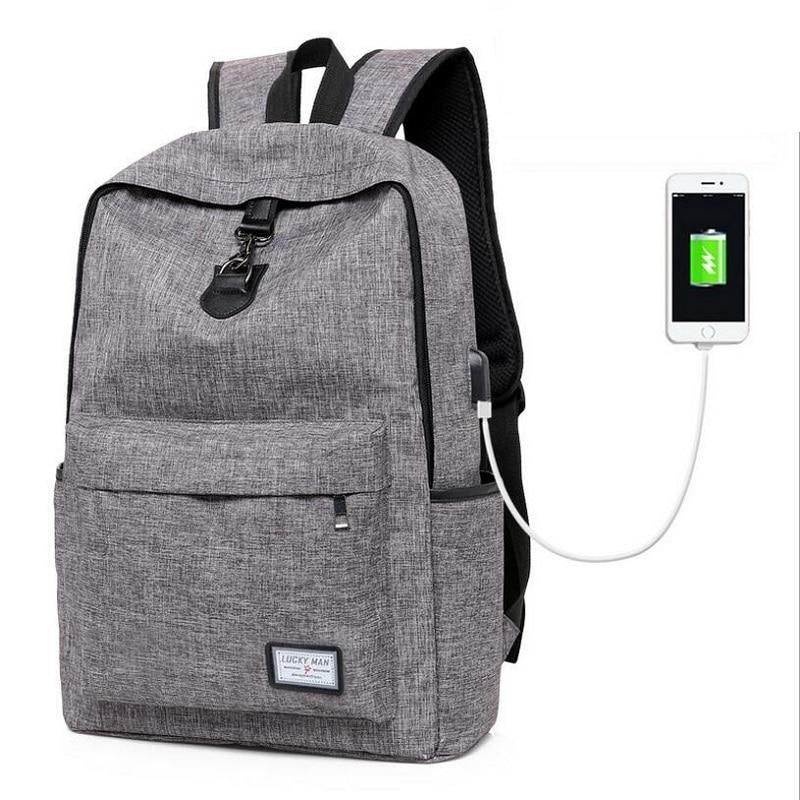 f0199fa54aae Large Capacity Laptop Man Travel USB Design Backpack boy girls ...
