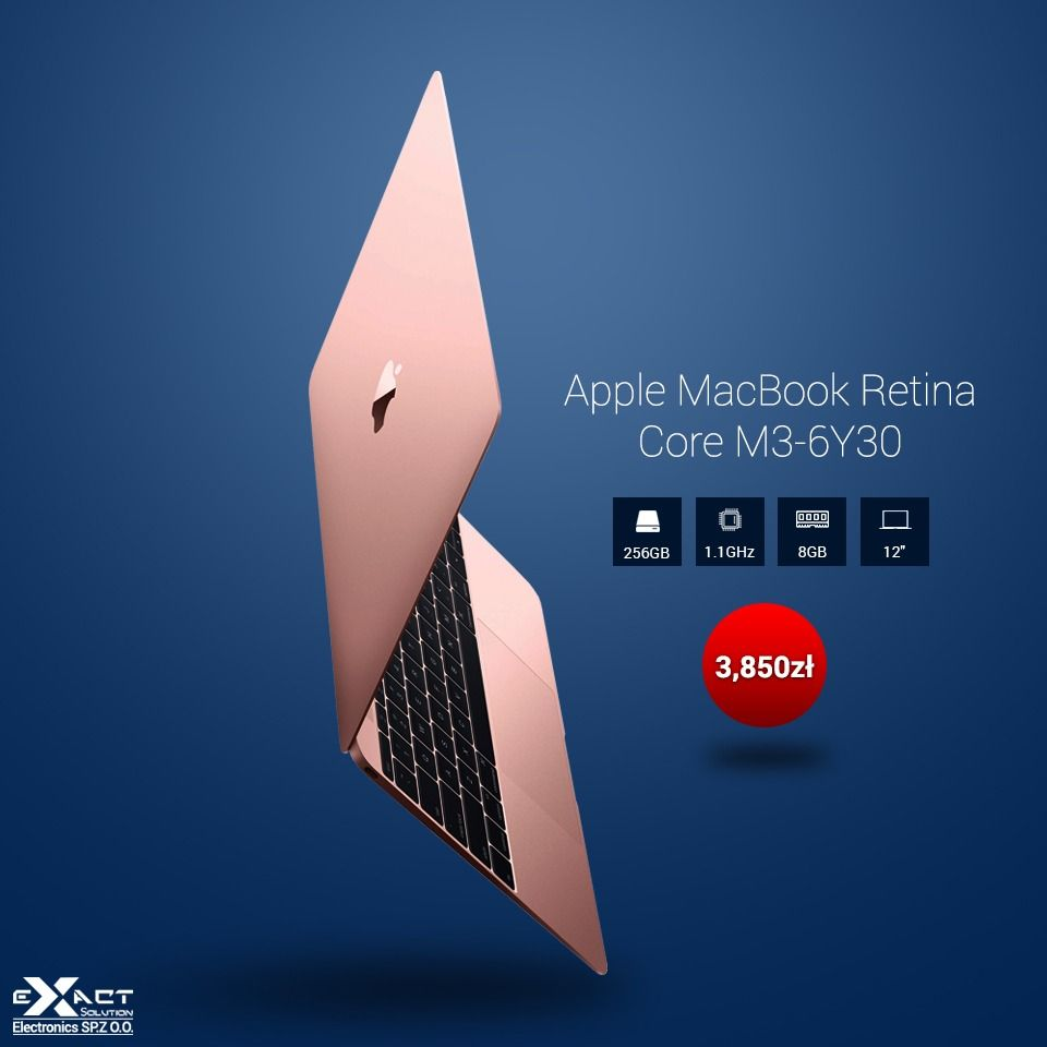 Apple Macbook Retina Core M3 6y30 8gb 256gb Ips Darmowa