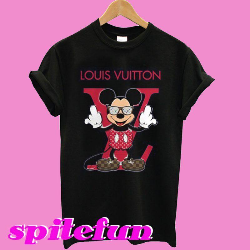 d9239513dbb0 Disney Mickey Mouse Louis Vuitton fashion T-shirt