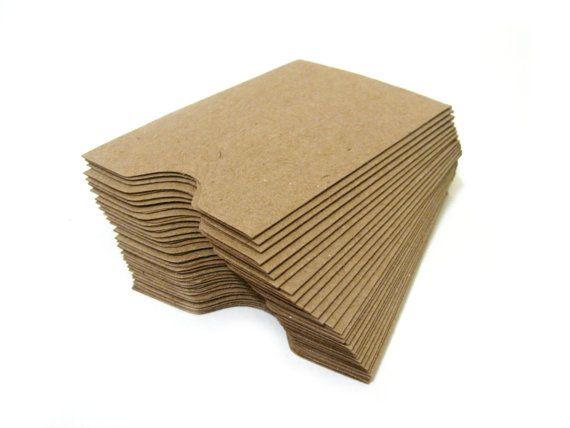 Brown Kraft Business Card Gift Card Sleeves Recycled Mini Envelopes Brown Kraft Business Cards Kraft Business Cards Brown Kraft