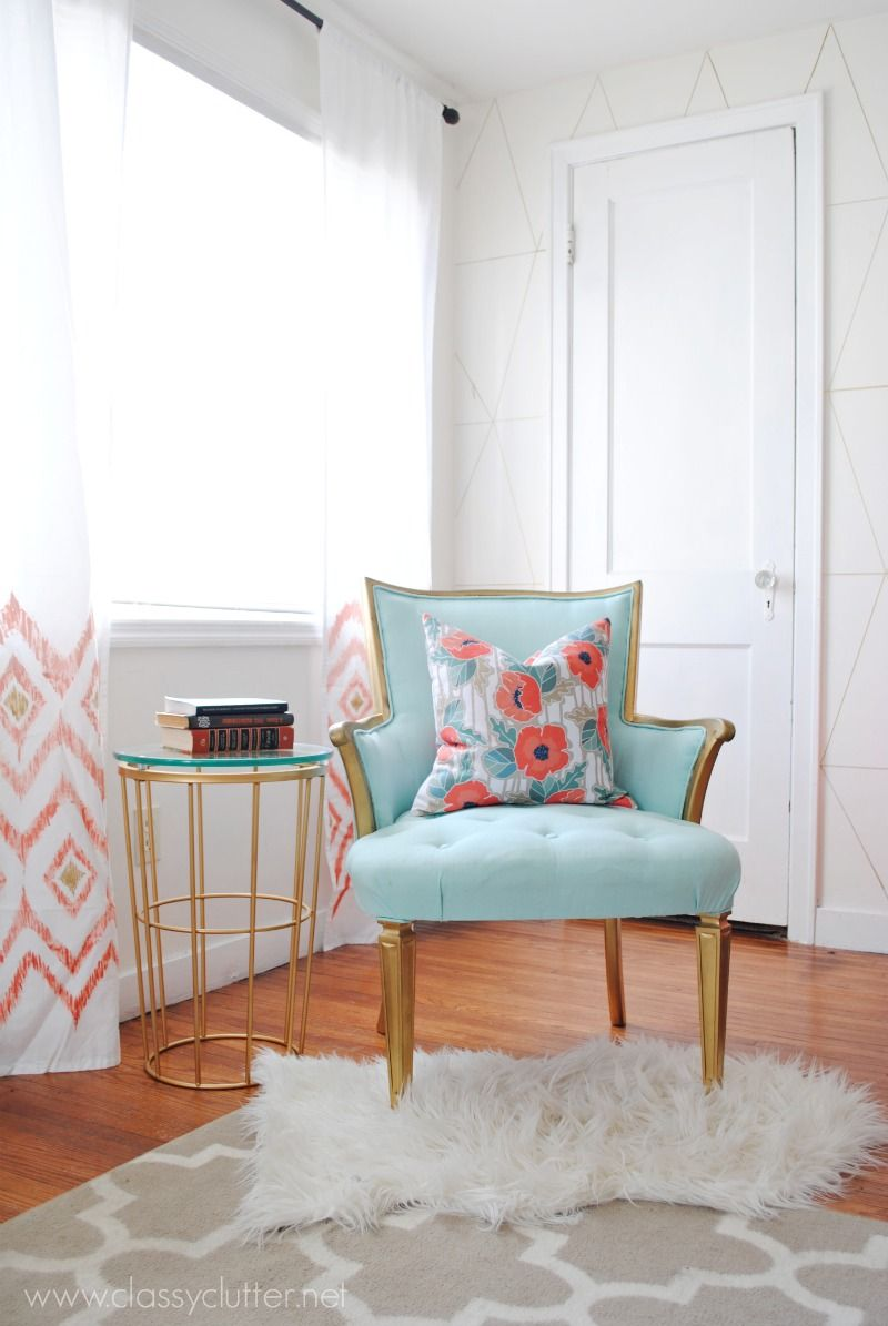 Coral and Mint Living Room Reveal | Diy living room, Living rooms ...