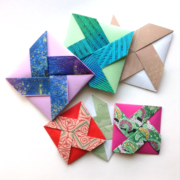 I Made My Pinwheel Fold Cards In Two Different Sizes Birthday