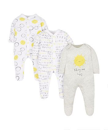 Autumn Garden Sleepsuits 3 Pack Baby Girl Clothes Stylish Baby Girls Baby Girl Outfits Newborn