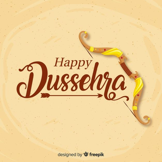 Download Happy Dussehra Background In Hand Drawn S