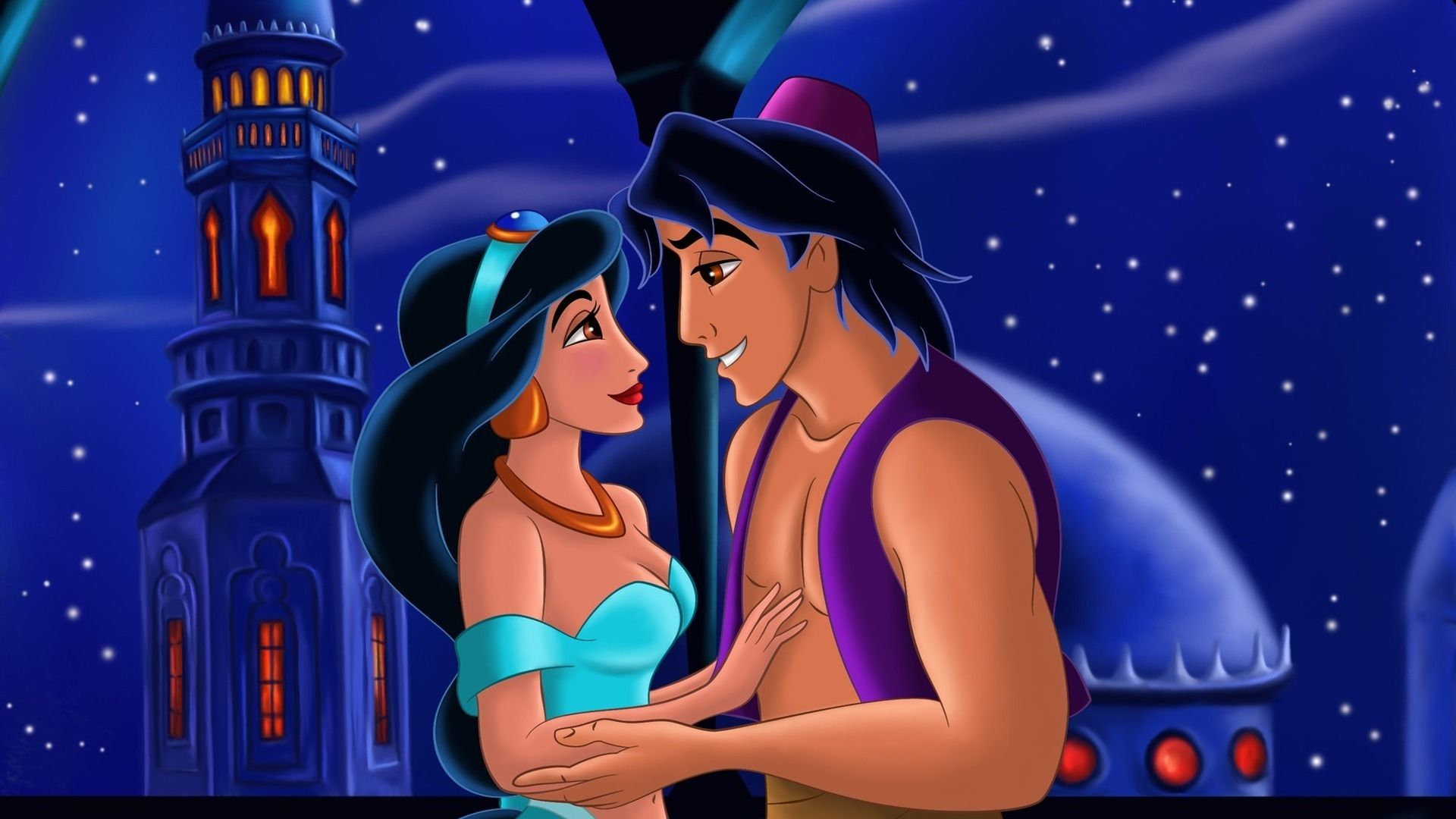 The Love Of Aladdin For Jasmine Was Love At First Sight Aladdin