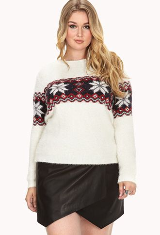 Shaggy Fair Isle Sweater | FOREVER21 PLUS - 2000129510 PERFECT FOR ...