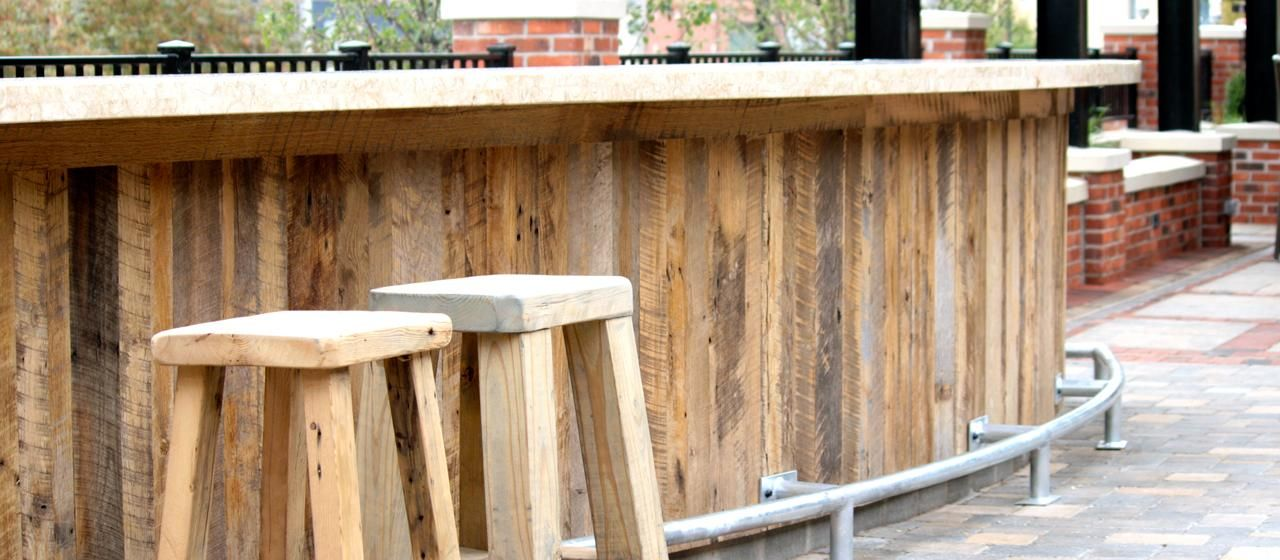 Outdoor Bars Reclaimed Antique Rustic Oak Wood Paneling Elmwood Timber