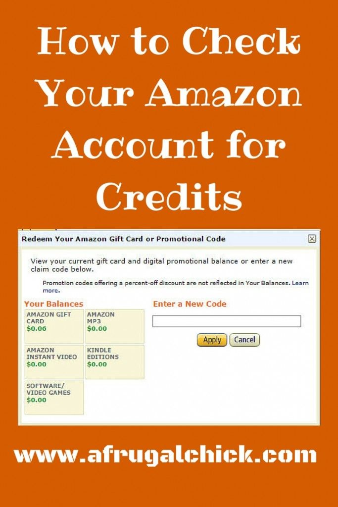 How To Check Your Amazon Account For Credits Money Saving Advice Accounting Learning