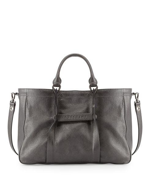 Longchamp  longchamp Longchamp 3D Leather Tote Çanta - Gri   The ... 3e71b5153b
