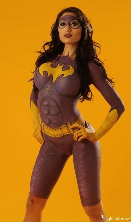 Busty women body paint cosplay