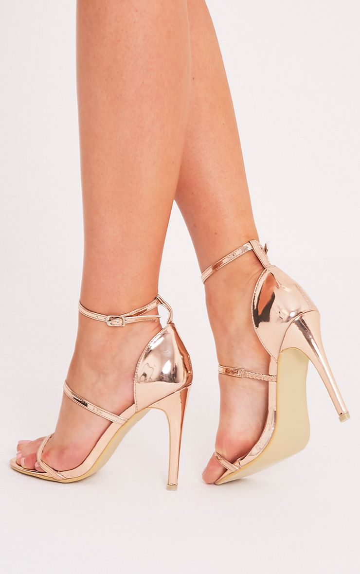 PRETTYLITTLETHING Amelia Rose Strappy Heeled Sandal