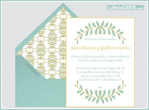 invitacin de boda online en aqua de la belle carte