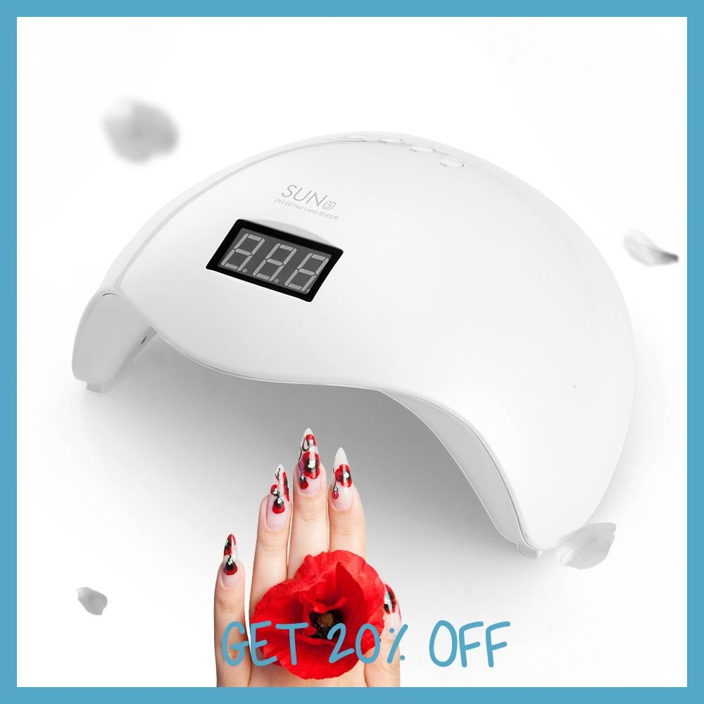UVLED SUN UV Lamp 48W SUN5X LED Nail Dryer Manicure Lamps Double ...
