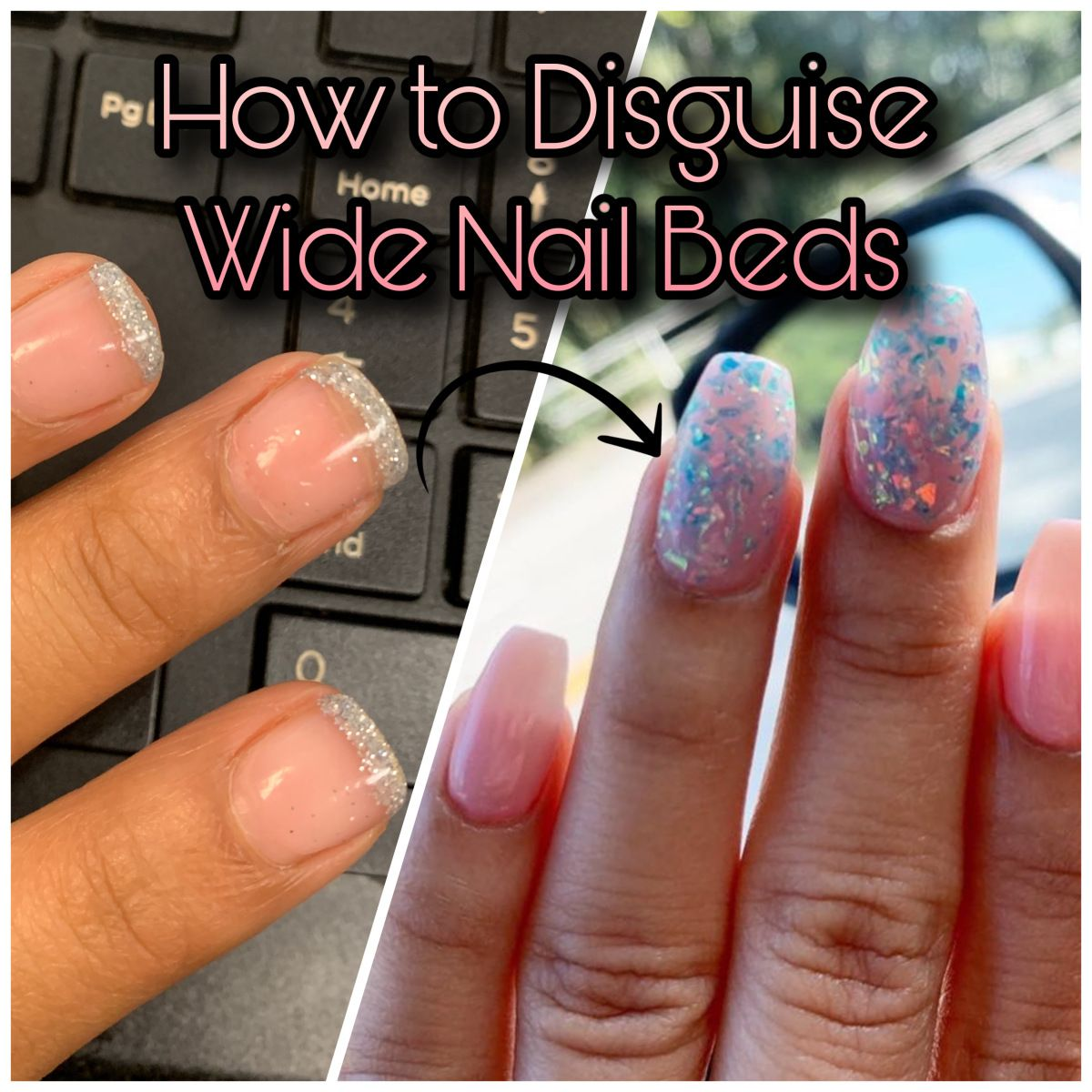 How To Disguise Wide Nail Beds Nail Dipaholic In 2020 Wide Nails Acrylic Nail Tips Short Nail Bed