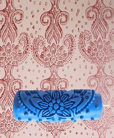 15cm Flower Embossed Painting Roller Wallpaper Tool For Diy Wall