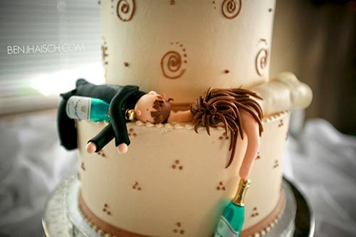 Funny Drunk Wedding Cake Toppers