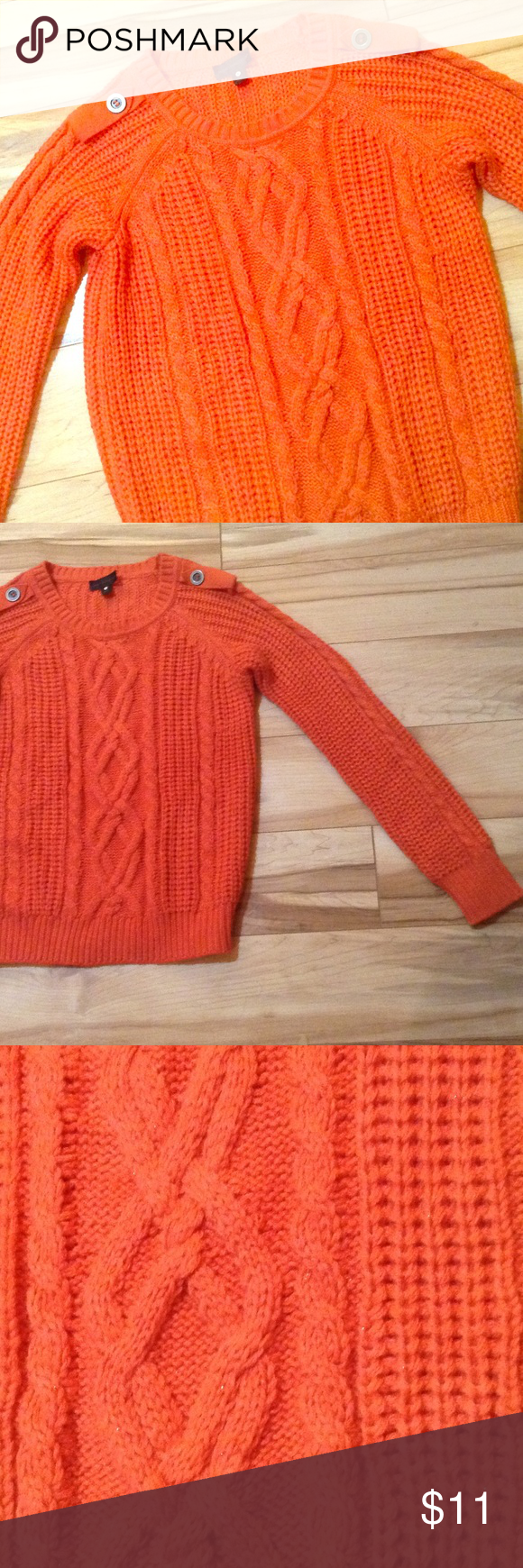 Cable Sweater Cute Orange cable sweater by Worthington. The ...