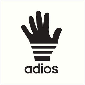 'Adios a sporty logo parody' Essential T-Shirt by
