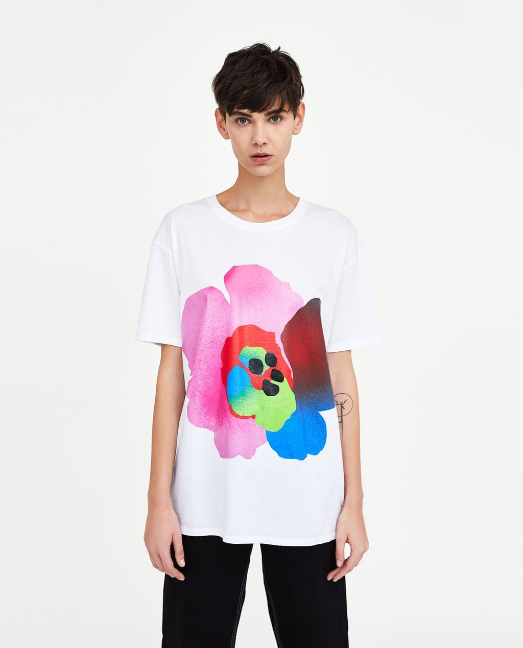 Dames T Shirts Nieuwe Collectie Online Zara Belgie T Shirts For Women Zara Print T Shirt