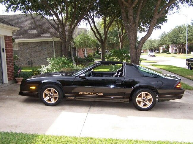 Black And Gold Iroc Z Chevy Muscle Cars Camaro Iroc Classic