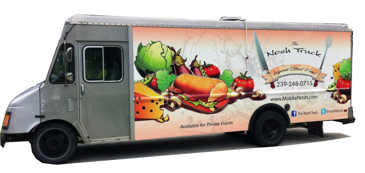 Mobile kitchen truck we put a custom vehicle wrap on