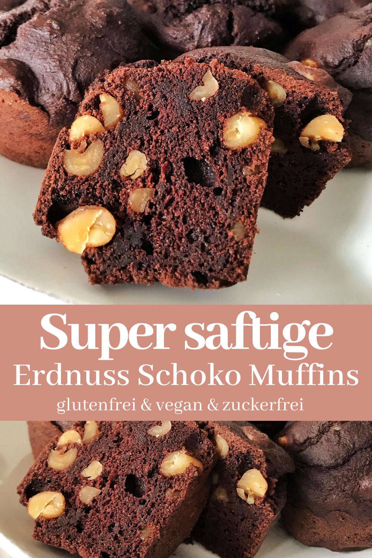 Saftige Erdnuss Schoko Muffins