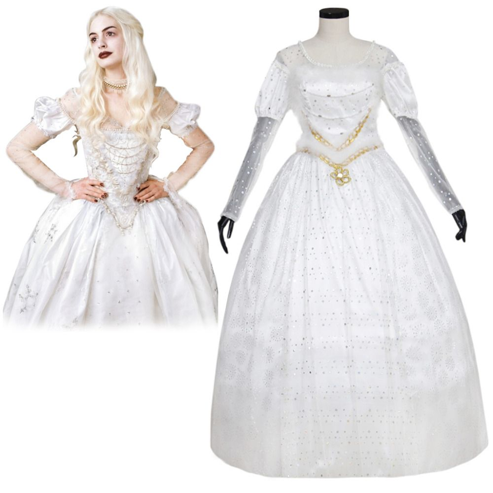 Click to Buy ucuc Alice In Wonderland The White Queen Cosplay Costume