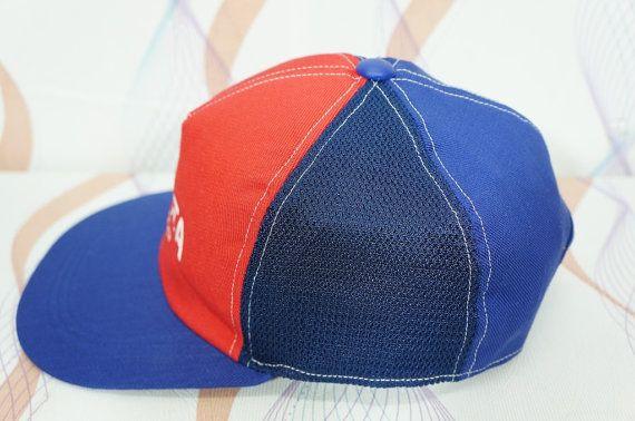 4debf4a4808 Vintage 80s 90s Toyota Tecno Adjustable Cap Hat   vintage toyota cap   toyota  hat   racing cap   rac