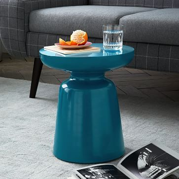 Martini Side Table Warm Teal Modern Side Table Contemporary