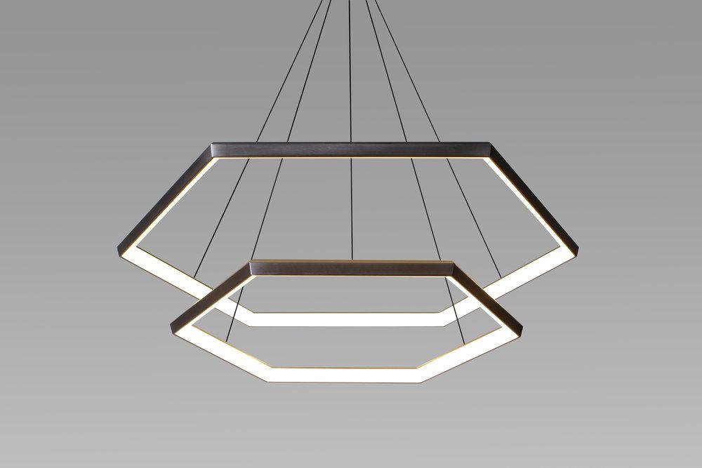 Luxury Hexagon Pendant Lighthexagon Pendant Light Elegant The - Modern-swing-pendant-light-by-monochro-design-studio