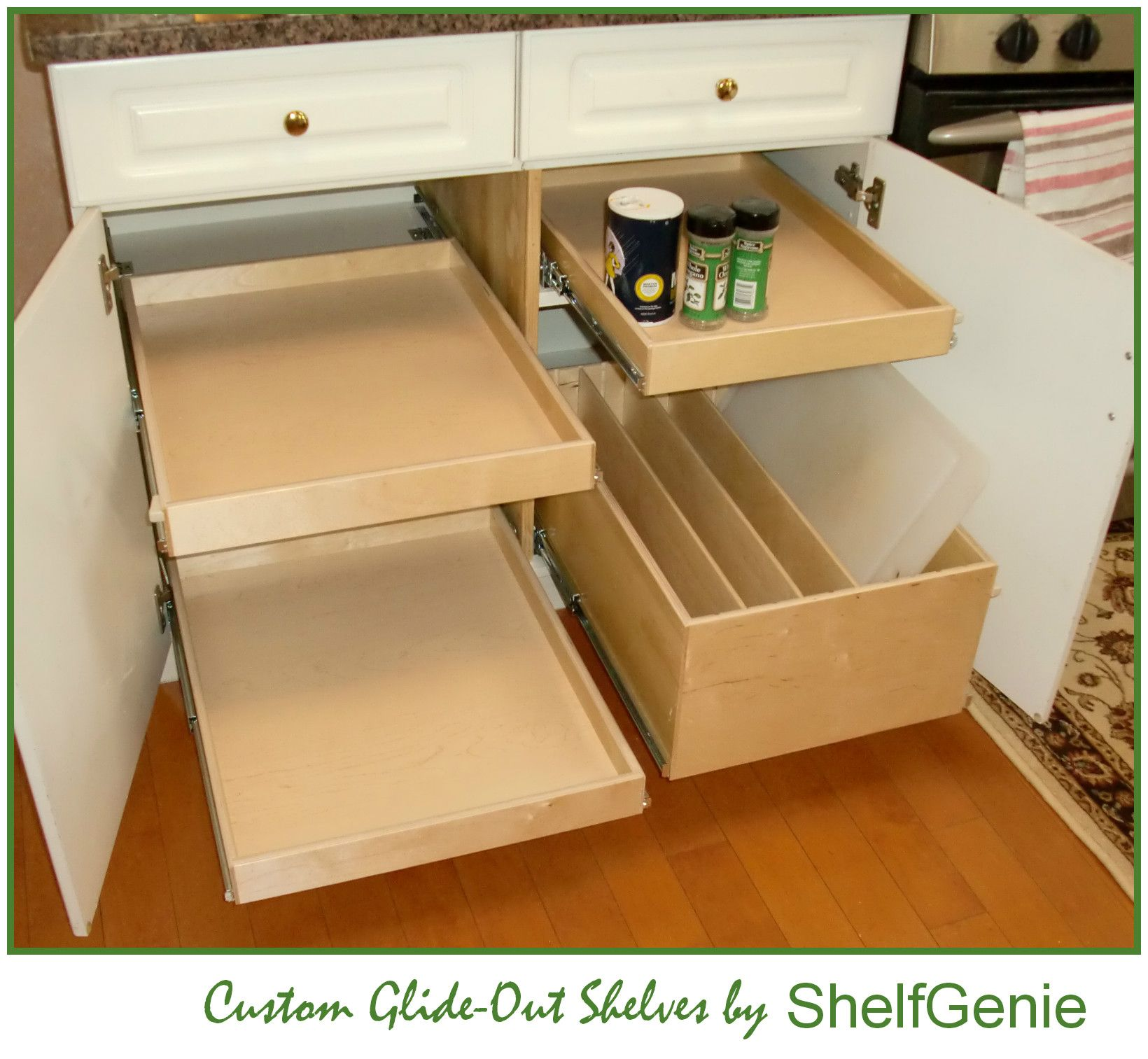 4 Ways To Personalize Your Kitchen Cabinets: ShelfGenie Designs, Builds And Installs Custom Glide-Out