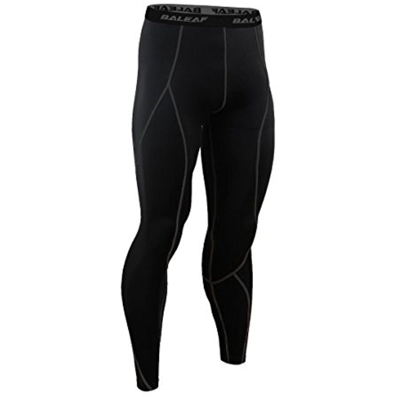 Black Baleaf Men/'s Short Sleeve Running Fitness Workout Compression Medium