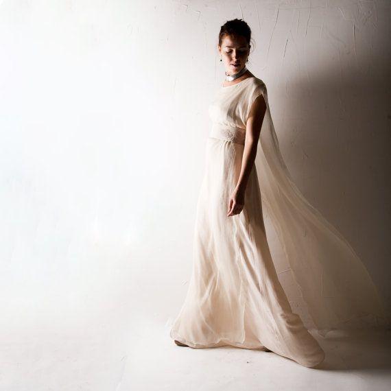 1920s Wedding dress, Boho wedding dress, Blush wedding dress, Hippie ...