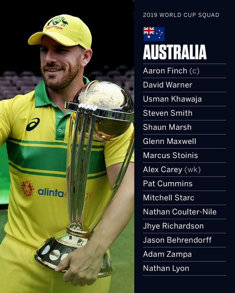 Australia 2019 Wc Squad Live Cricket News Cricket Sport David Warner