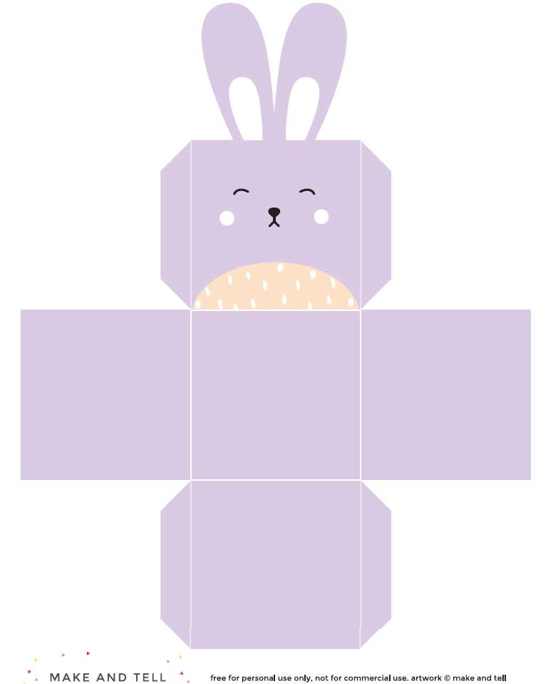 Httpmakeandtelldiy printable easter bunny boxes httpmakeandtelldiy printable easter bunny negle Images
