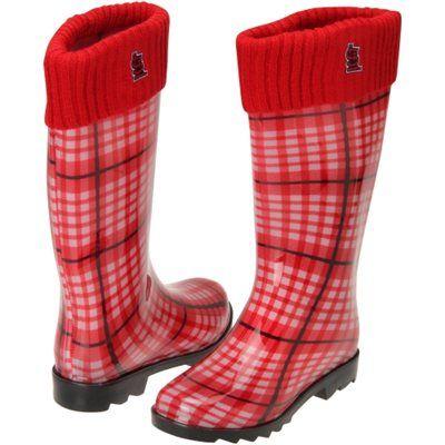 St. Louis Cardinals Ladies Rain Boots - Red