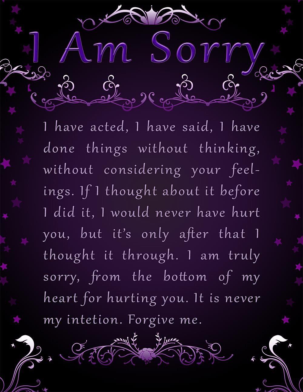 Apology Card Templates 10 Free Printable Word Pdf Sorry Cards Apology Cards Card Templates