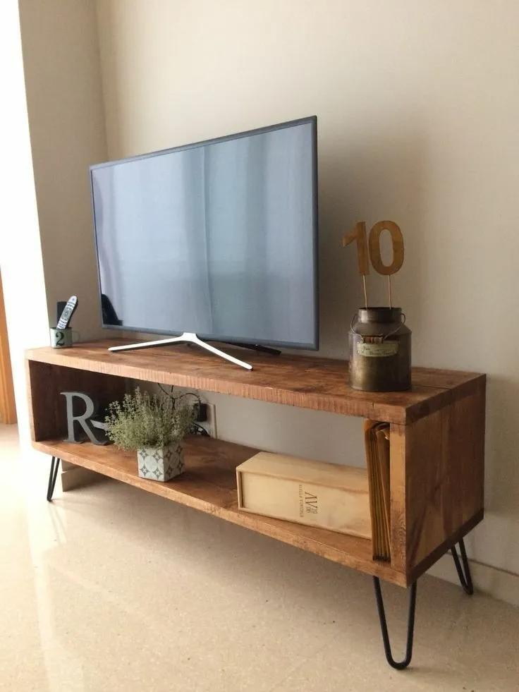Mesa Tv 125 Cms Diseño Industrial Vintage Repisa 1 790 00 Muebles Para Tv Muebles Tv Diseño Muebles